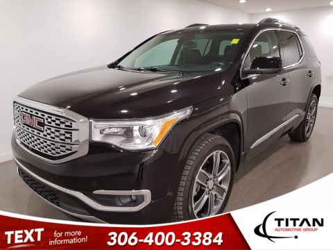 Pre-Owned 2017 GMC Acadia Denali|V6|AWD|7Pass|Leather|CAM|NAV|Bose|Pano Sunroof|Remote Starter