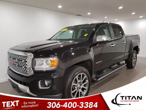 Pre-Owned 2017 GMC Canyon Denali|Onyx Black|4x4|Crew|Leather|NAV|BOSE|Heated/Cooled Seats
