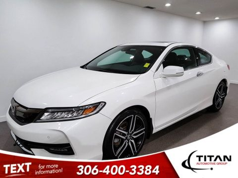 Pre-Owned 2016 Honda Accord Coupe Touring V6 CAM NAV Htd Leather Rims Bluetooth Low KMs