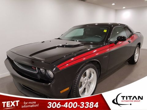 Pre-Owned 2012 Dodge Challenger R/T|V8|Leather|Htd Seats|Rims|Red Stripes