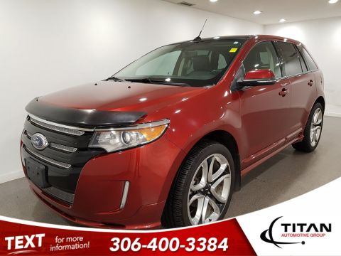 Pre-Owned 2014 Ford Edge Sport AWD | Leather | Sunroof | Navigation | DVD