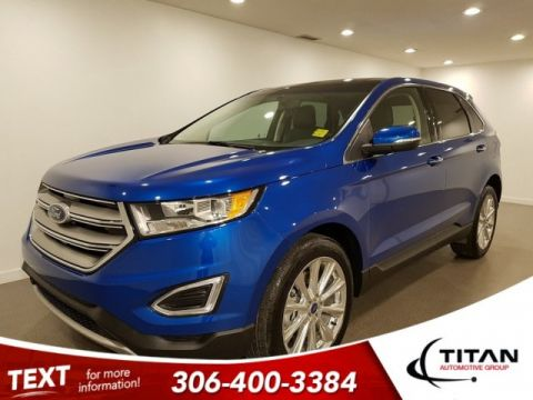 Pre-Owned 2018 Ford Edge Titanium AWD V6 SONY NAV Htd Cld Leather Ponaramic