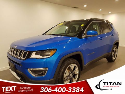 Pre-Owned 2018 Jeep Compass Limited | 4x4 | Navigation | Pano Sunroof | Heated Leather | Blind-Spot Monitors | Back Up Camera