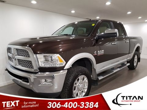 Pre-Owned 2017 Ram 3500 Laramie Leather Cummins Diesel NAV Htd Seats