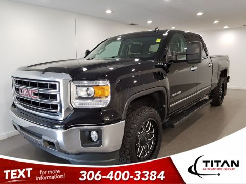 Pre-Owned 2014 GMC Sierra 1500 SLT|6.2L V8|4x4|Local|CAM|Leather|NAV