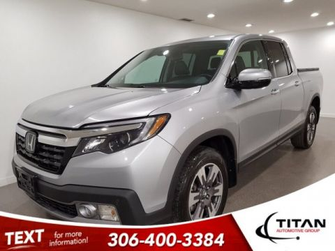 Pre-Owned 2017 Honda Ridgeline Touring AWD V6 CAM NAV Heated Cooled Leather
