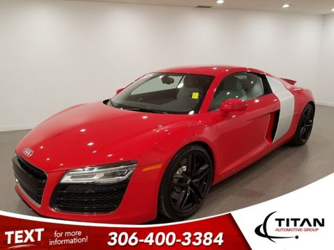 Pre-Owned 2014 Audi R8 430HP Brilliant Red B&O Nappa Leather NAV 13,000km